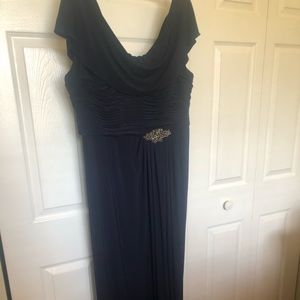 Kleinfeld Navy Blue Mother of the Bride Gown